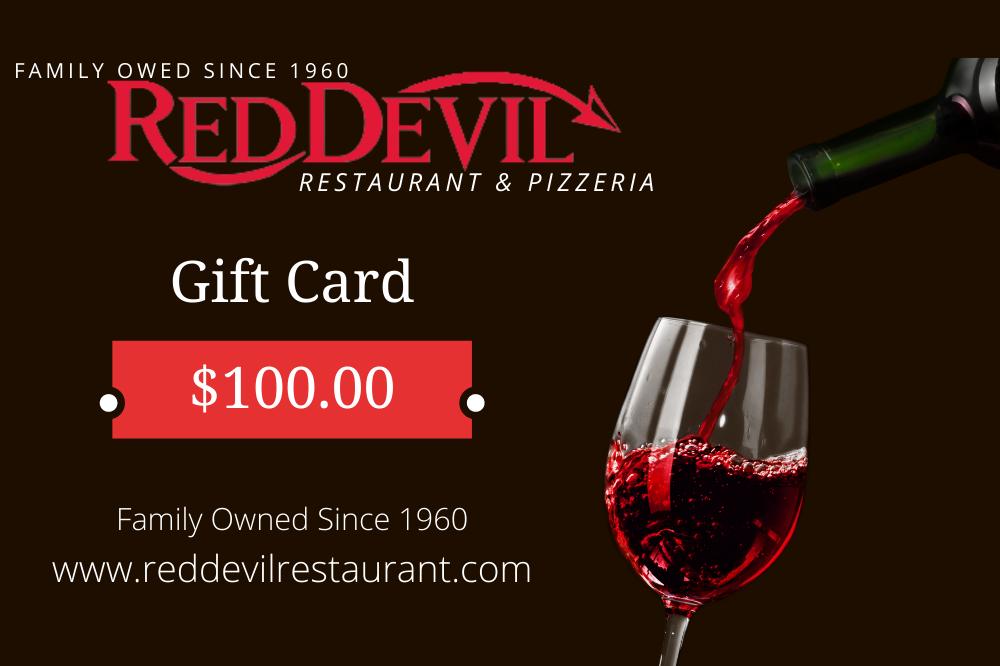 Red Devil Restaurant 100$ Gift Card